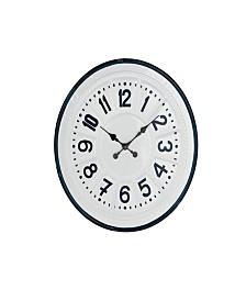 Rosemary Lane Modern Round Iron Wall Clock