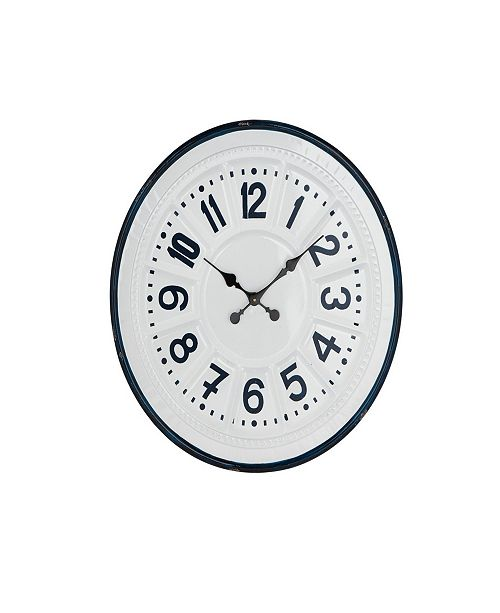 Rosemary Lane Modern Round Iron Wall Clock