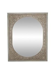 Rustic Rectangular Framed Wall Mirror