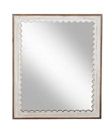 Modern Rectangular Wooden Framed Wall Mirror