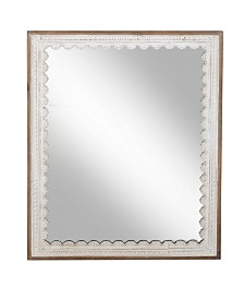Rosemary Lane Modern Rectangular Wooden Framed Wall Mirror