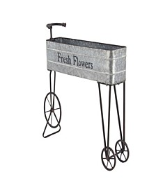 Farmhouse Iron and Aluminum Bicycle Planter