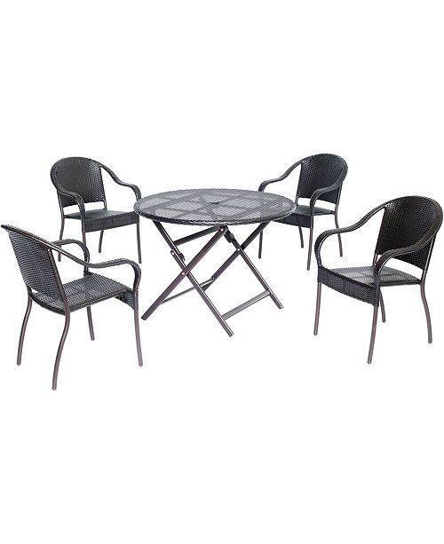 "Hanover Orleans 5-Piece Dining Set with 40"" Round Table - 29.52"" x 40"" x 59.49"""