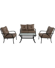 "Palm Bay 4-Piece Patio Set - 32.08"" x 45.86"" x 71"""