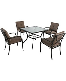 "Palm Bay 5-Piece Dining Set - 28.5"" x 37.7"" x 156.8"""