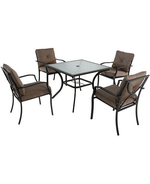 "Hanover Palm Bay 5-Piece Dining Set - 28.5"" x 37.7"" x 156.8"""