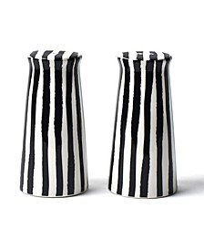 by Laura Johnson Deco Pedestal Salt And Pepper Shakers