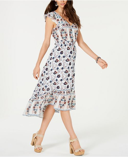ff506b3c0f7 Lucky Brand Felice Cotton Printed Flounce Dress   Reviews - Dresses ...