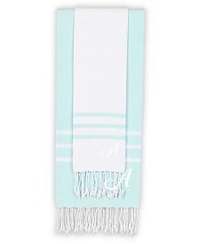 Linum Home Personalized Alara Turkish Pestemal Beach Towel Set Collection