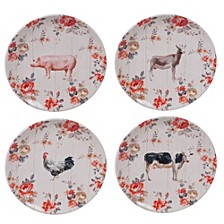 Farmhouse Dinner Plates, Set of 4