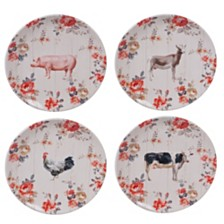 Certified International Farmhouse Dinner Plates, Set of 4