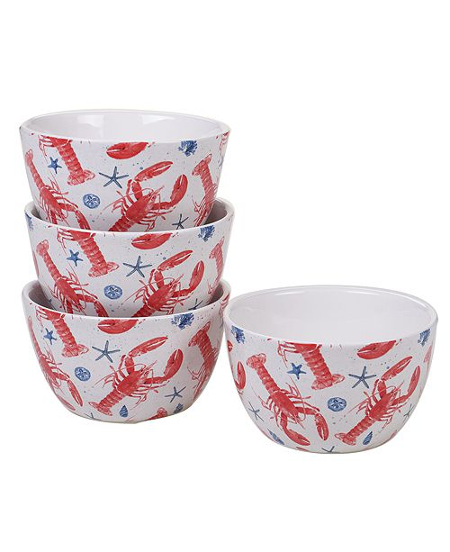 Certified International Nautical 4pc Ice Cream Bowl