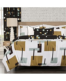 Reconstruction 6 Piece Full Size Luxury Duvet Set