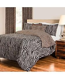 Siscovers Zebra Zen 6 Piece King Luxury Duvet Set
