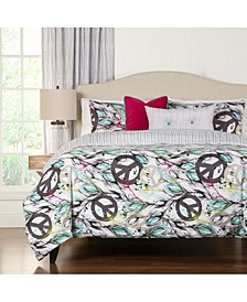 Dream Catcher Reversible 6 Piece Full Size Luxury Duvet Set