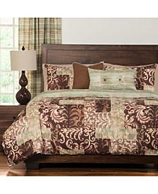 Barcelona Reversible 6 Piece Full Size Luxury Duvet Set