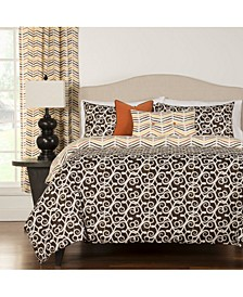 Sabine 6 Piece Queen Luxury Duvet Set