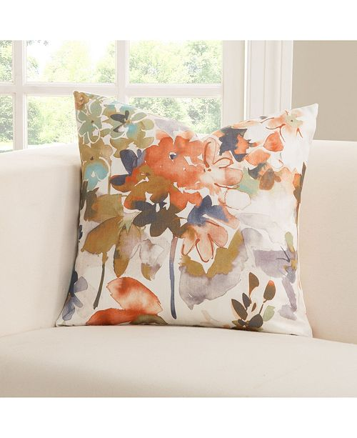 "Siscovers Summer Set Peach 26"" Designer Euro Throw Pillow"