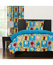 Monster Friends 5 Piece Twin Duvet Set