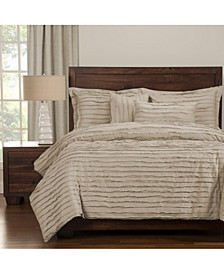 Tattered Almond 6 Piece King Duvet Setet Set
