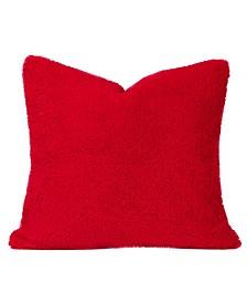 """Playful Plush Scarlet 16"""" Designer Throw Pillow"""