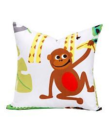 "Crayola Jungle Love 16"" Designer Throw Pillow"
