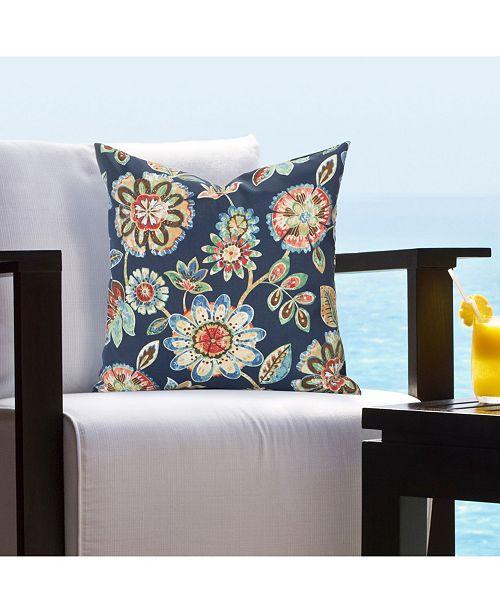"Siscovers Indoor-Outdoor Magnolia Floral 20"" Designer Throw Pillow"