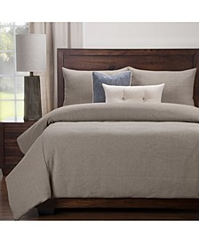Earthy Textured 6 Piece Cal King High End Duvet Set