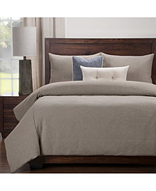 Siscovers Earthy Textured 6 Piece Cal King High End Duvet Set