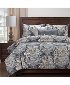 Cindersmoke 6 Piece Full Size Luxury Duvet Set