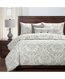 Parlour Drift 6 Piece Cal King High End Duvet Set