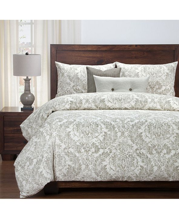 Siscovers Parlour Drift 6 Piece Cal King High End Duvet Set