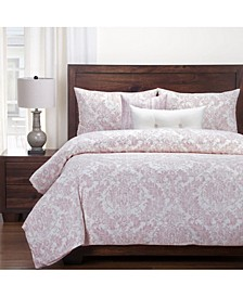 Parlour Rose 6 Piece Full Size Luxury Duvet Set