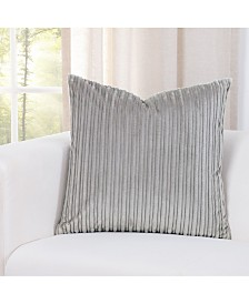 """Siscovers Downy Taupe 20"""" Designer Throw Pillow"""