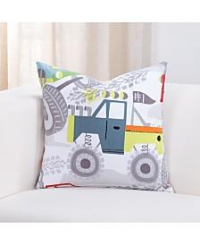 """Crayola Four Wheelin' Monster truck 26"""" Designer Euro Throw Pillow"""