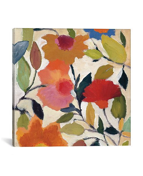 """iCanvas """"Begonias"""" By Kim Parker Gallery-Wrapped Canvas Print - 26"""" x 26"""" x 0.75"""""""