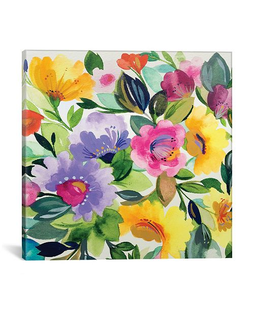 "iCanvas ""Lavender Zinnias Ii"" By Kim Parker Gallery-Wrapped Canvas Print - 26"" x 26"" x 0.75"""