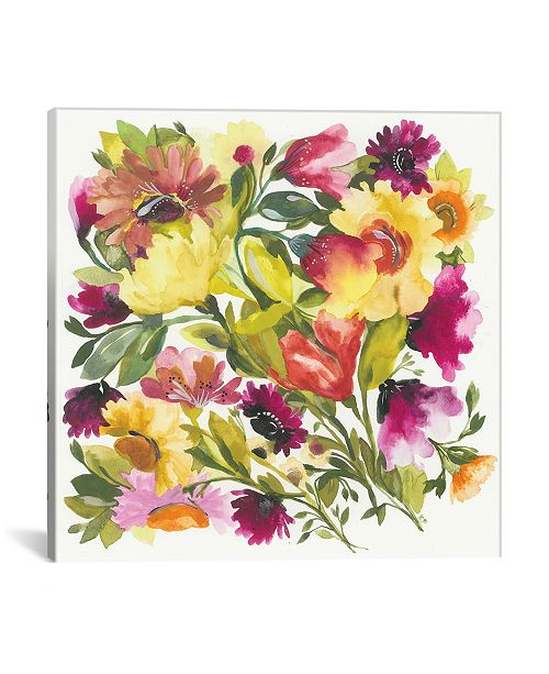 """iCanvas """"Love Garden"""" By Kim Parker Gallery-Wrapped Canvas Print - 12"""" x 12"""" x 0.75"""""""