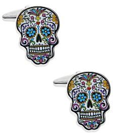 Sutton Silver-Tone Sugar Skull Cufflinks