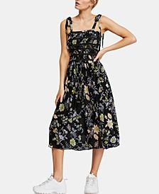 Isla Floral-Print Midi Dress