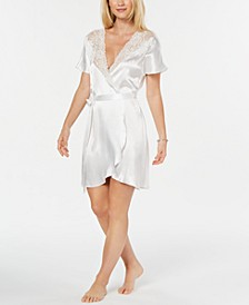 Ivory Juliet Short Satin Robe