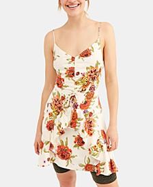 Happy Heart Ruched Mini Dress