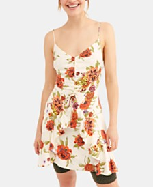 Free People Happy Heart Ruched Mini Dress