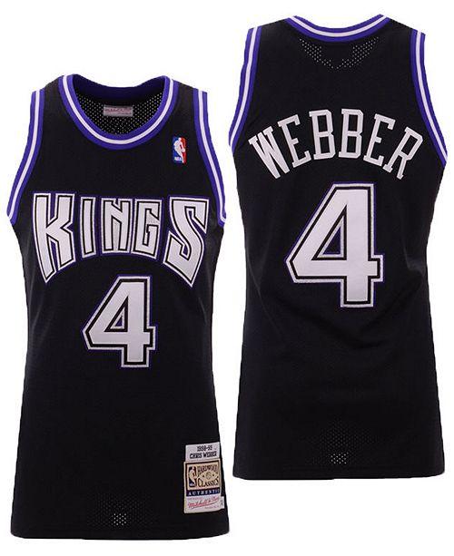 new products 54aec 5afa5 Men's Chris Webber Sacramento Kings Authentic Jersey