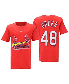 Majestic Big Boys Harrison Bader St. Louis Cardinals Official Player T-Shirt