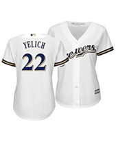 ed7e7f1a202 Majestic Women's Christian Yelich Milwaukee Brewers Cool Base Player  Replica Jersey