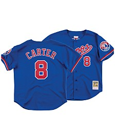 Mitchell & Ness Men's Gary Carter Montreal Expos Authentic Mesh Batting Practice V-Neck Jersey