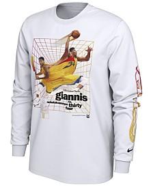 Nike Men's Giannis Antetokounmpo Milwaukee Bucks Time Warp Player Photo Long Sleeve T-Shirt