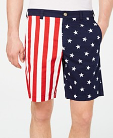 "Club Room Men's American Flag Printed 9"" Shorts, Created for Macy's"