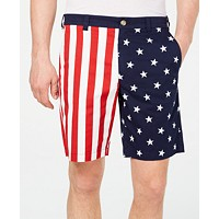 Deals on Club Room Men's American Flag Printed 9-inch Shorts